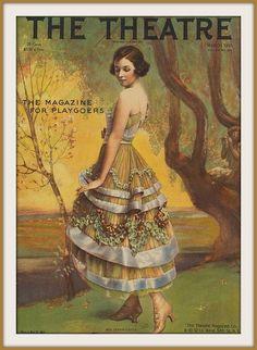 1915 March - Cover- ''Mrs Vernon Castle'', Theatre Magazine, the Magazine for Playgoers Vintage Outfits, Vintage Fashion, Vintage Vogue, 1900s Fashion, Edwardian Fashion, Magazine Art, Magazine Covers, Magazine Stand, Vestidos Vintage