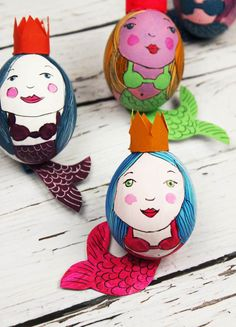 alisaburke: mermaid easter eggs