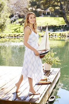 LC Lauren Conrad for Kohl's Plaid Handkerchief Midi Dress