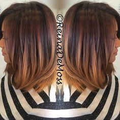 nice Schlank und Sexy Hair Beauty mit Ombre Glattes Haar