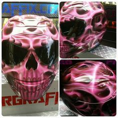 Custom Airbrushed Motorcycle Helmet by Airgraffix.com 224