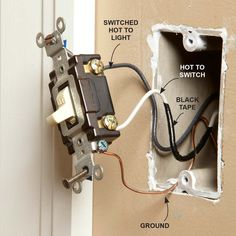 Kitchen Light Switch Wiring - LEDs in many cases are used to illuminate some spaces in a kitchen which may be hard to light Home Electrical Wiring, Electrical Projects, Electrical Outlets, Electrical Engineering, Light Switch Wiring, Wire Switch, House Wiring, Home Fix, Diy Home Repair