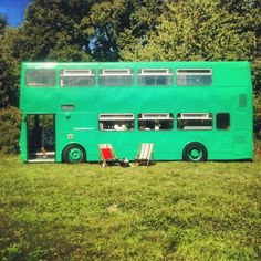 The Big Green Bus sleeps up to 6 in the Sussex countryside biggreenbus.co.uk