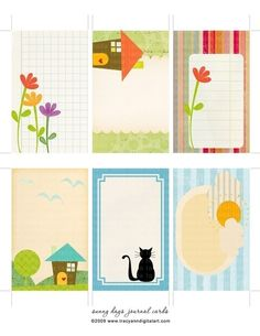 Print your own Scrapbook Journal Cards. Great for tags. mailing labels, notes.