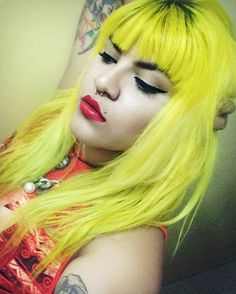 Yellowhair haircolor alternativegirls colored