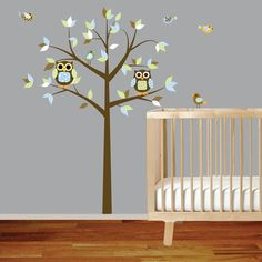Boy Blue Brown Nursery wall decal $99 on Etsy http://www.etsy.com/listing/76317815/boy-blue-brown-nursery-vinyl-wall-decal