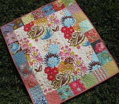 LouLouThi Modern Baby Quilt by SunnysideDesigns2 on Etsy