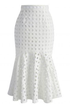 Circle of Chic Frill Hem Skirt in White - Skirt - Bottoms - Retro, Indie and Unique Fashion