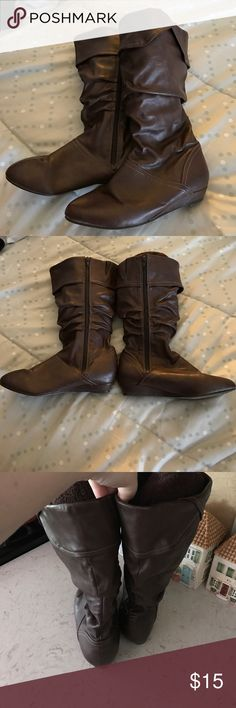 Women's wide calf brown boots Women's size 8w (size unmarked) wide calf brown boots - Step Up Comfort brand - worn a few times - good condition step up comfort Shoes Wedges