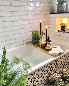 Wall tiles from Topps Tiles. Bath panel tiles from the Cement Tile Shop. (tile combinations) rnrnSource by Cement Tiles Bathroom, Bathroom Paneling, Zen Bathroom, Steam Showers Bathroom, Small Bathroom, Bathroom Ideas, White Bathroom, Easy Bathrooms, Bathroom Wall Panels