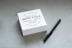 Logotype and notepad designed by UMA for U2's Onomichi based Hotel Cycle.