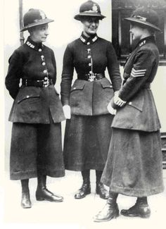 Female police officers, London, 1919