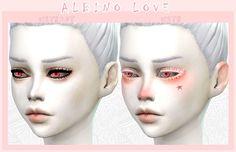 ALBINO LOVE makeup set at DecayClown's Sims via Sims 4 Updates