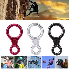 35KN Descender Outdoor Rock Climbing Carabiners Abseiling Downhill Safety Ring For Device Climbing Equipment #Affiliate