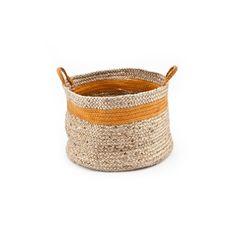 Basket By Boo Jute Natural Orange