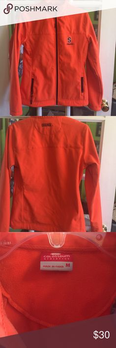 👄 Syracuse Orange jacket Nice like new athletic jacket that is lined with soft fleece. Great shape. Medium Syracuse University go Orange! Jackets & Coats
