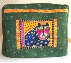 Green Toaster Cover with Laurel Burch Cat  by PatsysPatchwork, $18.00