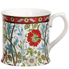 The Met Store - William Morris Pink and Rose Mugs