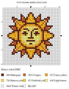 soleil - sun - point de croix - cross stitch - Blog : http://broderiemimie44.canalblog.com/