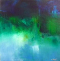 "Saatchi Art Artist Christian Bahr; Painting, ""NIGHTFALL OVER THE COASTLINE"" #art"