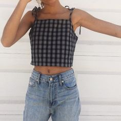 dena plaid tank brandy melville