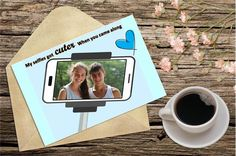 Personalized Love Card. Selfie lover, valentine's day card (LC63) personalized greeting cards in Dubai and UAE