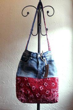Hey, I found this really awesome Etsy listing at https://www.etsy.com/listing/168256171/denim-bandana-hand-bag