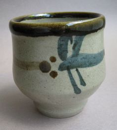 Yunomi, Tea Cup, Mashiko-yaki, by Tagami Munetoshi (item detailed views) Japanese Pottery, Tea Bowls, Tea Ceremony, Ceramic Pottery, Tea Cups, Clay, Fancy, Shapes, Teapots