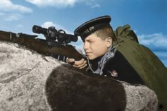 All sizes | Soviet Navy sniper 1942 | Flickr - Photo Sharing! Pin by Paolo Marzioli