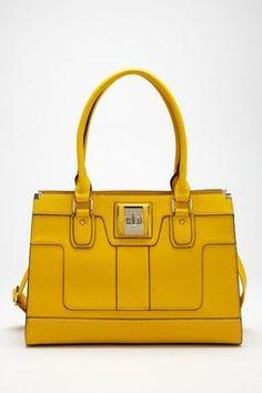 Yellow Lether Handbag