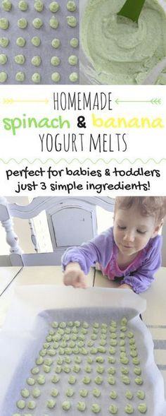 Homemade 3 Ingredient Baby Yogurt Melts | These baby yogurt melts are perfect for babies & toddlers! They are also a great first food for baby-led weaning. Made with 3 simple ingredients, no sugar added, and naturally gluten-free!