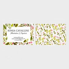 business card, download, printable card, flowers, digital file, carte de visite téléchargeable, fleurs, fichier numérique, floral, nature