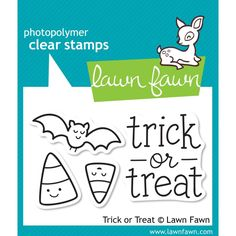 Lawn Fawn Halloween Trick or Treat Photopolymer Clear Stamp Sest