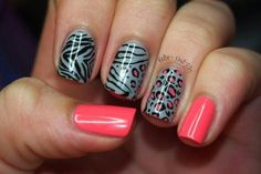 Zebra And Cheetah Nail Designs Zebra And Cheetah Nail Designs