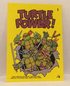 1989 Teenage Mutant NINJA TURTLES Sticker Trading Card - TripleGCollectibles, $3.00