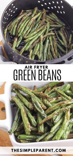 Air Fryer Green Beans are one of the best side dish recipes to make for your family. They're perfect for weeknight dinners and also for special meals like holiday dinners! Quick and easy recipe! Easy Vegetable Side Dishes, Best Side Dishes, Side Dish Recipes, Main Dishes, Whole Food Recipes, Keto Recipes, Cooking Recipes, Weeknight Dinners, Air Fryer Recipes