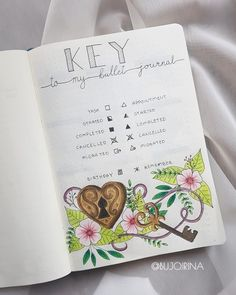 Key page for my bullet journal.