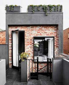 A beautiful concept. Perfectly transformed facade to blend the existing with only a touch of modern appeal. We all love a rooftop terrace! Home Design Decor, House Design, Melbourne, Victorian Cottage, The Design Files, Rooftop Terrace, Home Renovation, Tiny House, Beautiful Homes