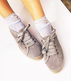 351b162daa2363 Items similar to Ibiza Island Boho Sneakers Espadrilles- Lace Oxford shoes