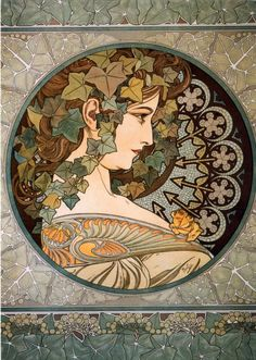 Alphonse Mucha. Art Nouveau.