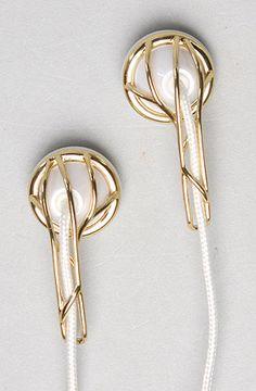 $90.00-The Ella Headphone in Gold & White