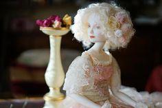Aurore.Porcelain doll by Oksana Saharova. collection  Muses by Alphonse Mucha. Porcelain, 65cm