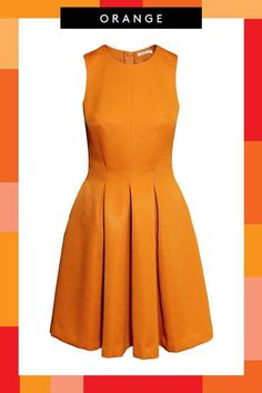 Orange can be tricky, but this fitted bodice and full skirt keep it looking sophisticated. #refinery29 http://www.refinery29.com/cool-bridesmaid-dress-types#slide-5