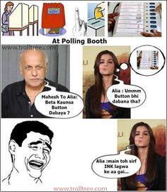Mahesh To Alia Bhatt - Beta Kaunsa Button Dabaya ????
