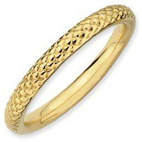 Phenomenal Silver Stackable Gold Cable Ring. Sizes 5-10 Available Jewelry Pot. $19.99. Your item will be shipped the same or next weekday!. 100% Satisfaction Guarantee. Questions? Call 866-923-4446. Fabulous Promotions and Discounts!. All Genuine Diamonds, Gemstones, Materials, and Precious Metals. 30 Day Money Back Guarantee. Save 66% Off!