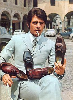 Ottorino Bossi & his shoes.