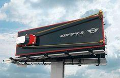 A fun MINI Billboard that is too hard to missed.   #advertising #ads #design #marketing #automotive #cars #carwrap #design #aretedi #losangeles