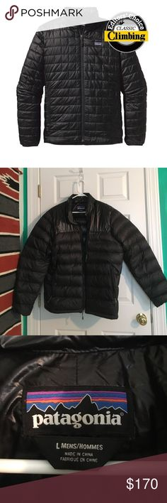 Patagonia Nano-Puff Jacket Hardly worn! No blemishes or stains on back of jacket. 2 stains, reference pictures. Stains are hardly noticeable! Not super puffy but it is a slightly puffy jacket! Water resistant. Patagonia Jackets & Coats Puffers
