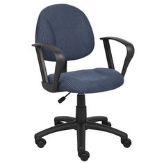 BOSS Office Products B317 Deluxe Posture Chair with Loop Arms