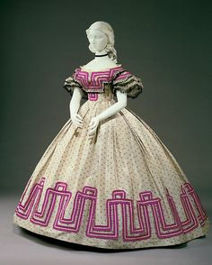 Afternoon dress, 1862-64 From the Cincinnati Art Museum via the...